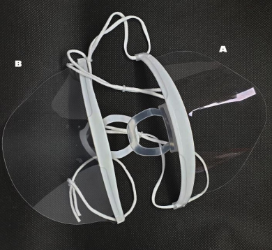 Prùhledná ochranná maska pro ochranu nosu a úst