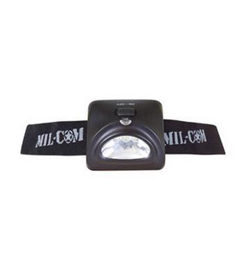 Svítilna èelová LED britská mil-com ÈERNÁ