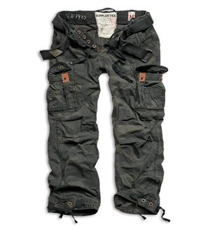 SURPLUS Kalhoty PREMIUM VINTAGE BLACK CAMO