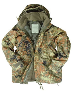 MIL-TEC Bunda US s vložkou FLEECE FLECKTARN