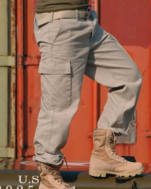 MIL-TEC Kalhoty BW typ moleskin předeprané KHAKI