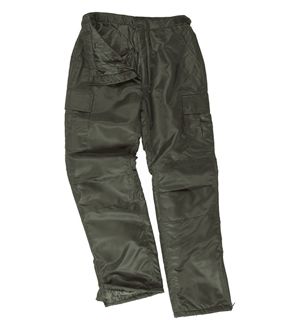 MIL-TEC Kalhoty US MA1 THERMO zateplené OLIV