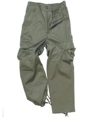 MIL-TEC Kalhoty dětské US BDU OLIV