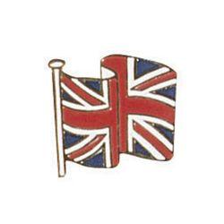 Odznak UNION JACK - brit.vlajka ve větru