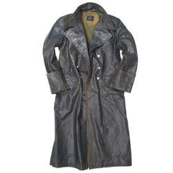 MIL-TEC Kabát důstojnický kožený ŠEDÝ