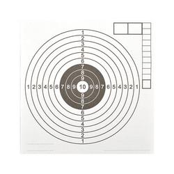 Terč vzduchovka s bílým středem 140x150 mm