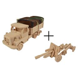 Dřevěný model TATRA 148 + dělo