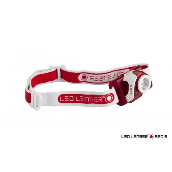 LED Lenser Čelovka LED Lenser SEO 5 - červená