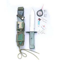 ROTHCO Nůž s pevnou čepelí na přežití SURVIVAL WOODLAND