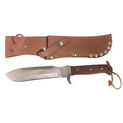 MFH Nůž BW s pevnou čepelí dřev. střenka pouzdro kůže