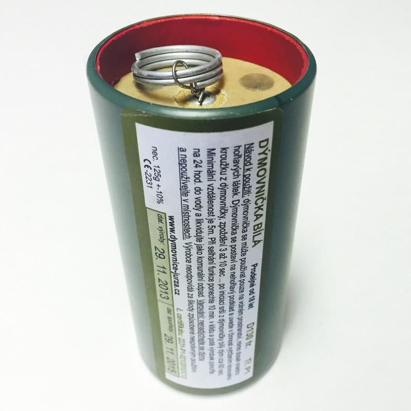 Dýmovnièka plechovka D130 bílý dým - zvìtšit obrázek