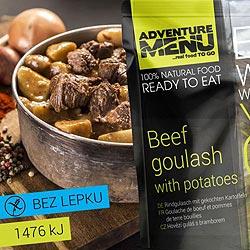 Hovězí guláš s bramborem - ADM sterilizované hotové jídlo