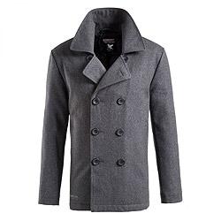 SURPLUS Kabát PEA COAT ANTHRAZIT