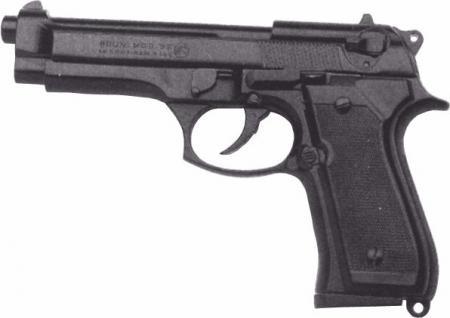 Bruni Plynová pistole Bruni 92 černá cal.9mm