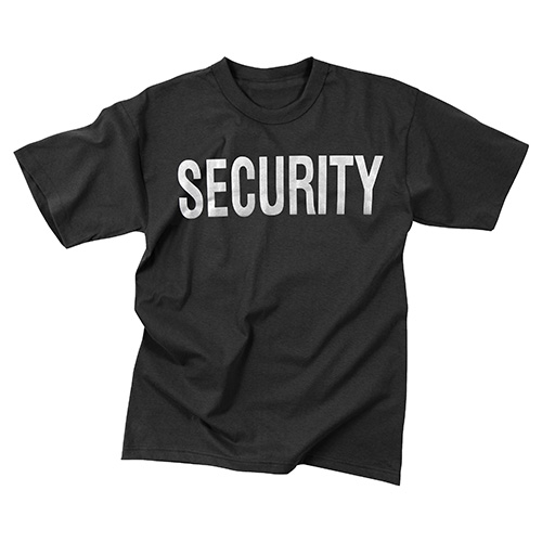 Triko s reflexním potiskem SECURITY ČERNÉ - ROTHCO - Army shop ... 9bb0b4a070