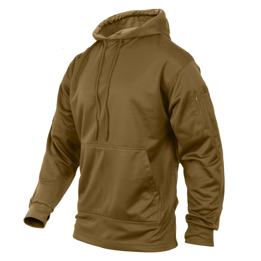 Mikina CONCEALED CARRY s kapucou COYOTE BROWN - ROTHCO - Army shop ... b8869b8e97