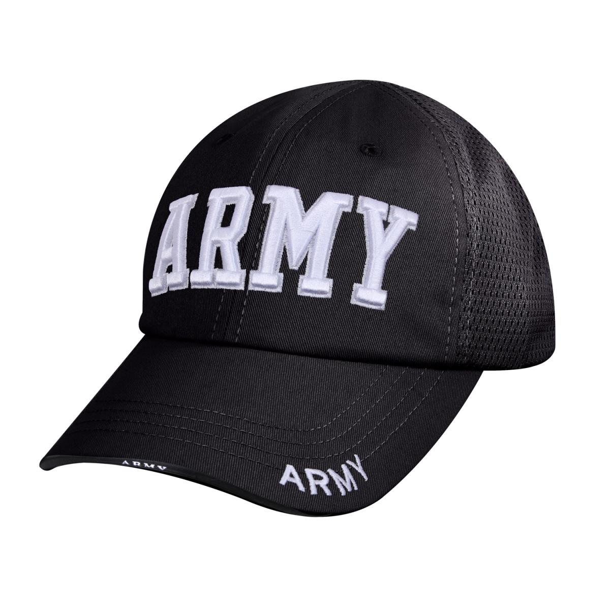 Čepice ARMY síťovaná ČERNÁ - ROTHCO - Army shop armytrade.cz 2323fe59b0