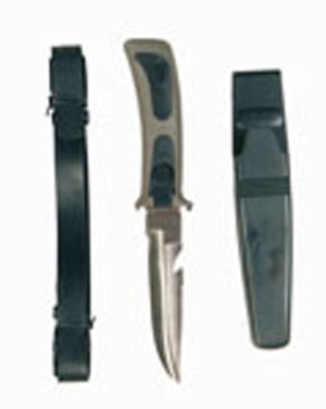 MIL-TEC Nůž potápěčský FROGMAN černozelený