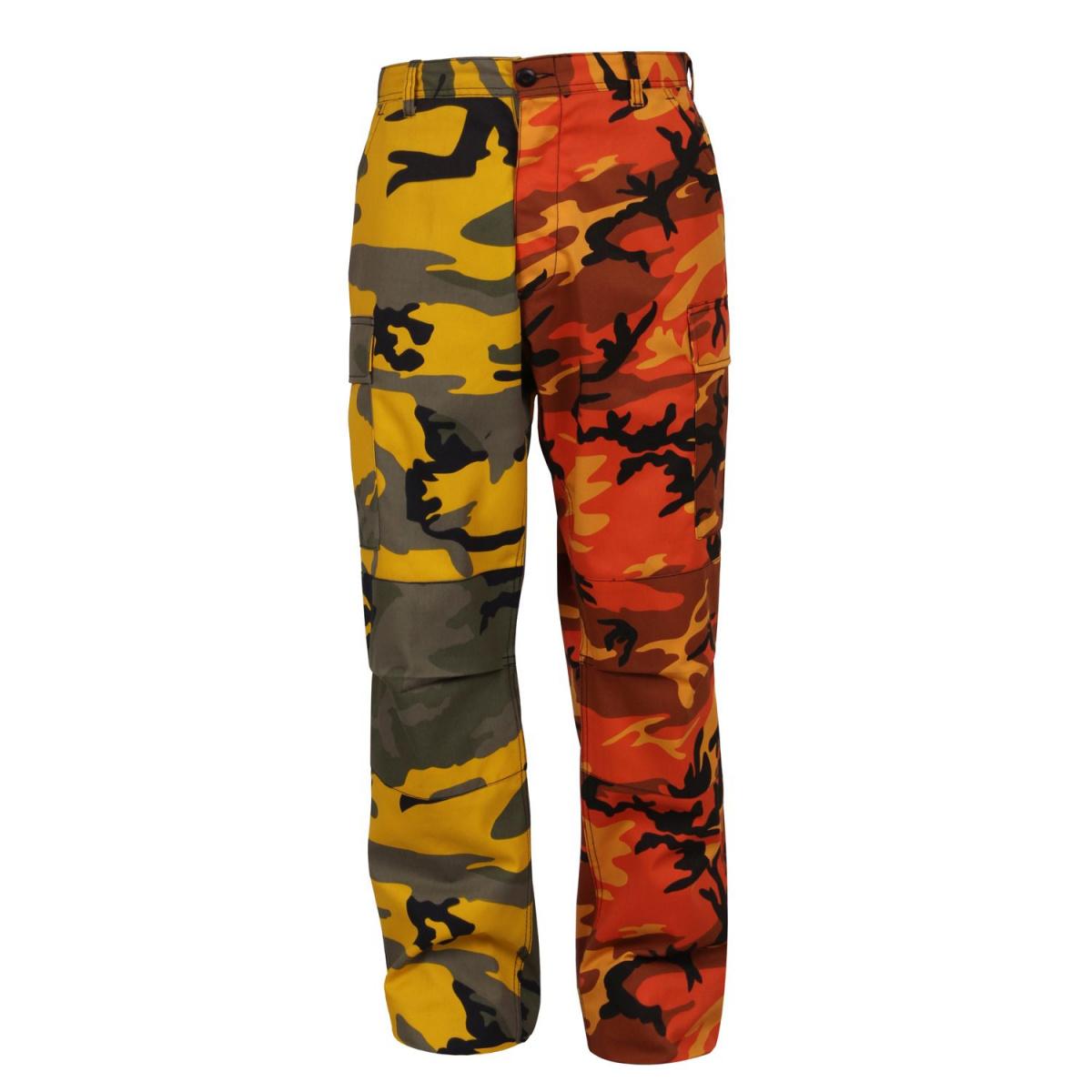 dd61cbbe570 Kalhoty dvoubarevné BDU YELLOW ORANGE CAMO - ROTHCO - Army shop ...