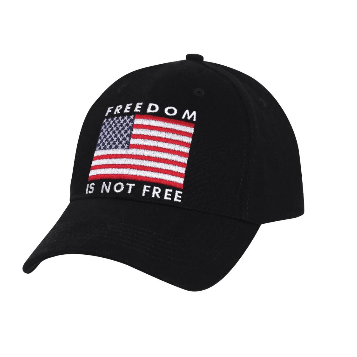 Èepice BASEBALL FREEDOM IS NOT FREE ÈERNÁ - zvìtšit obrázek