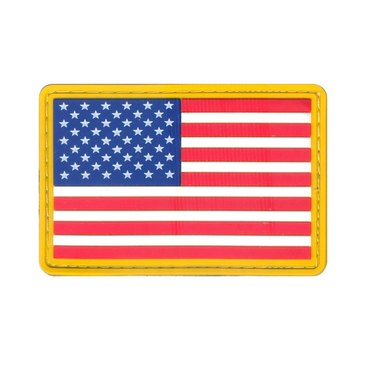 Nášivka US vlajka velcro BAREVNÁ žlutý lem - zvìtšit obrázek
