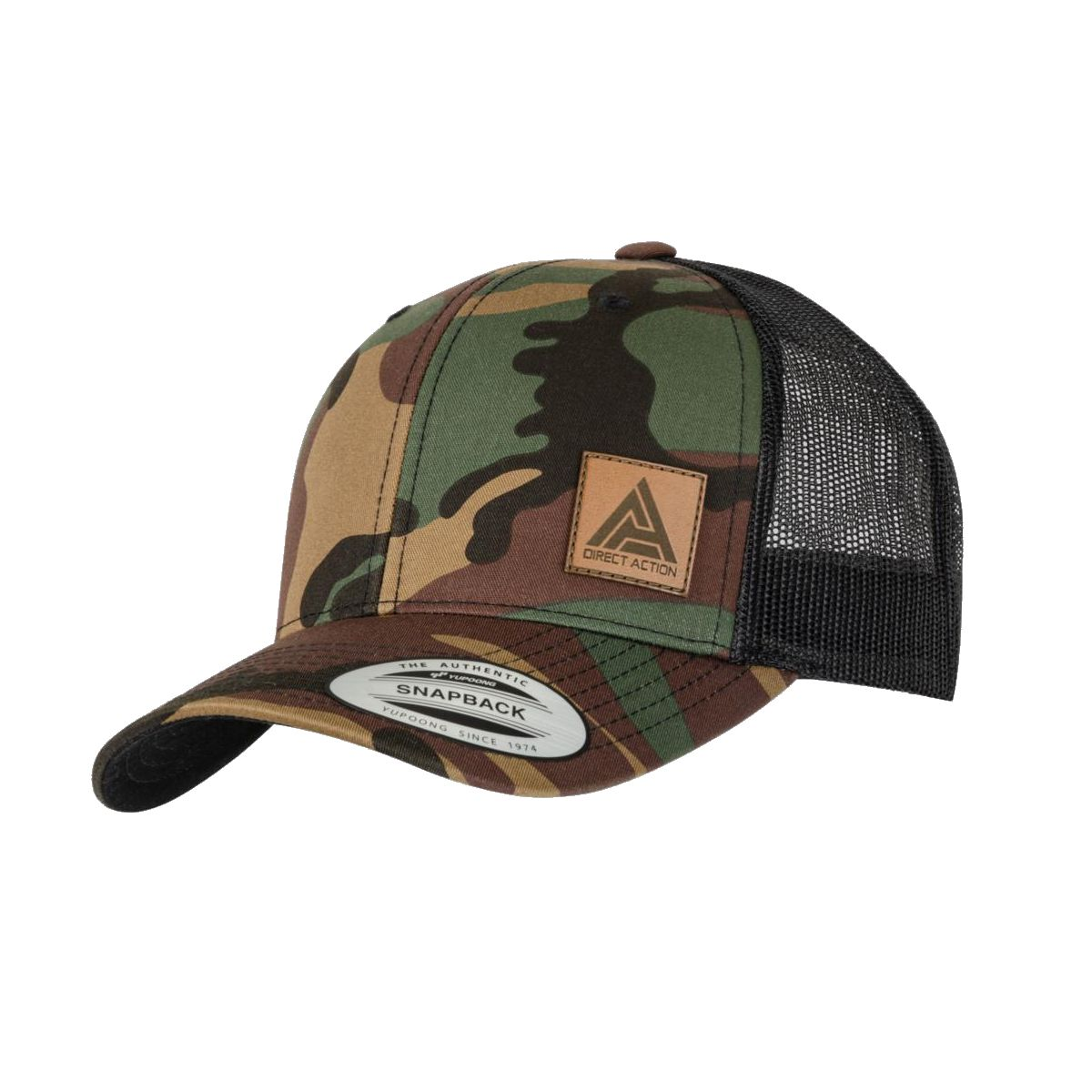 �epice RETRO TRUCKER s�ovan� WOODLAND/�ERN� - zv�t�it obr�zek