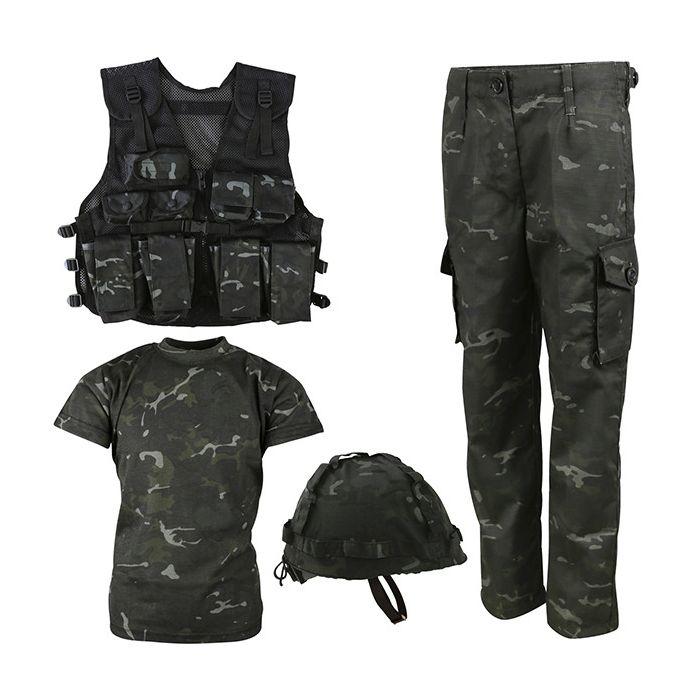Komplet dìtský taktický ARMY COMBO BTP BLACK - zvìtšit obrázek