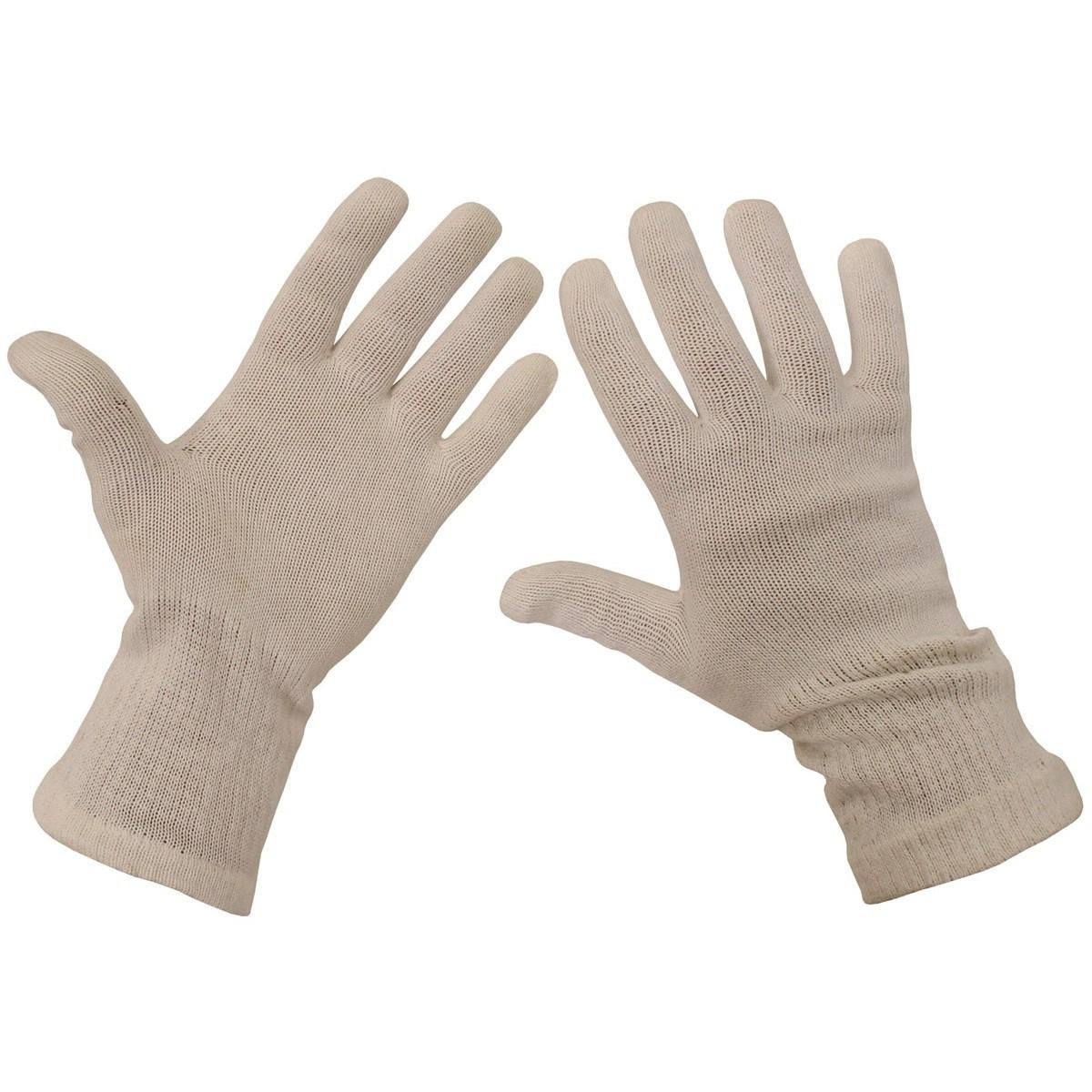 Rukavice prstové AÈR pletené bílé použité - zvìtšit obrázek