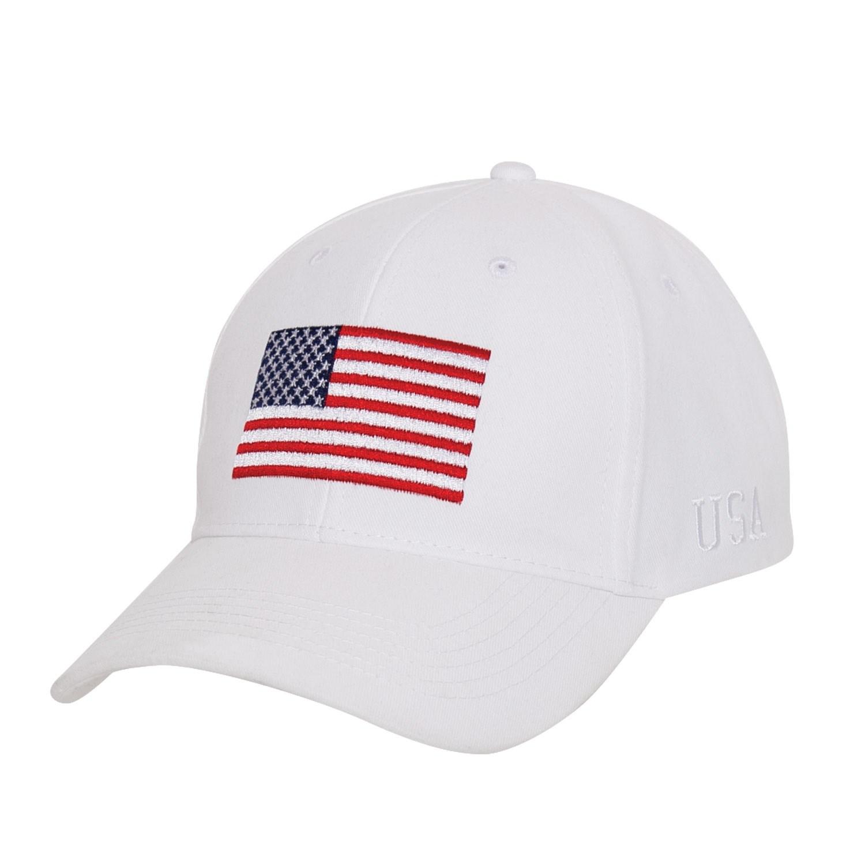 Èepice baseball s barevnou US vlajkou BÍLÁ - zvìtšit obrázek