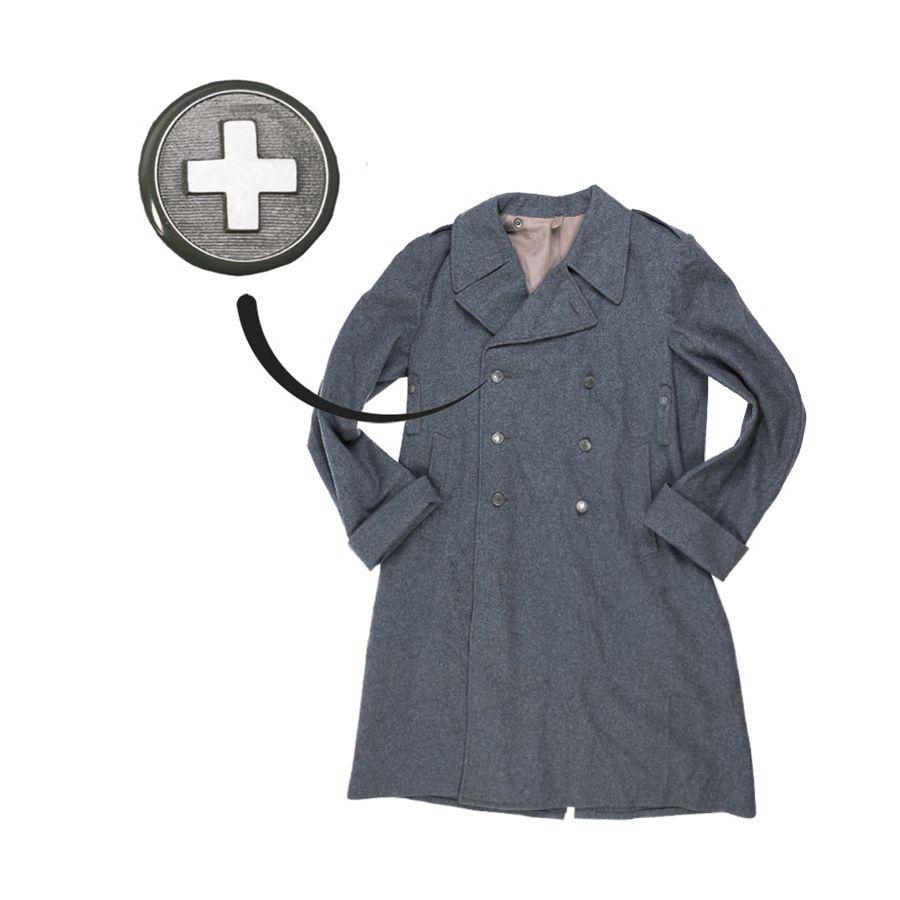 Kabát švýcarský vlnìný dvouøadé knoflíky - zvìtšit obrázek