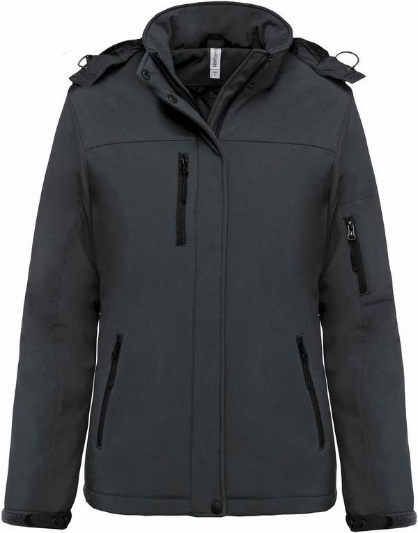 Dámská softshellová bunda Lined Hooded Parka - Šedá - zvìtšit obrázek