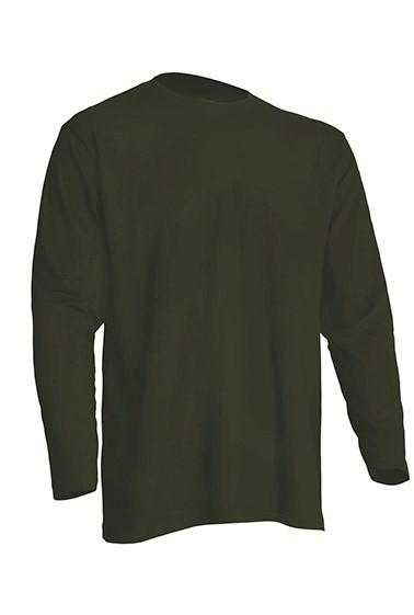 Pánské trièko Regular dlouhý rukáv - Zelené - zvìtšit obrázek
