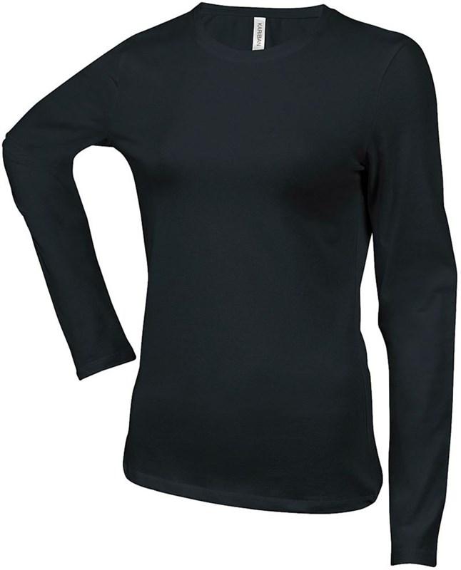 Dámské trièko dl.rukáv CARLA - Èerné - zvìtšit obrázek