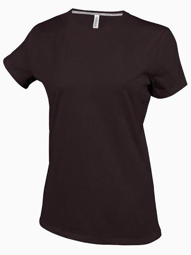 Dámské trièko kr.rukáv V-neck - Hnìdé - zvìtšit obrázek