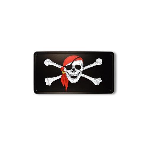 Cedule plechová pirátská lebka s šátkem - zvìtšit obrázek