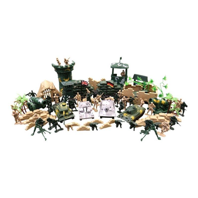 Sada hraèek - plastových modelù KOMBAT FORCE 100 kusù - zvìtšit obrázek