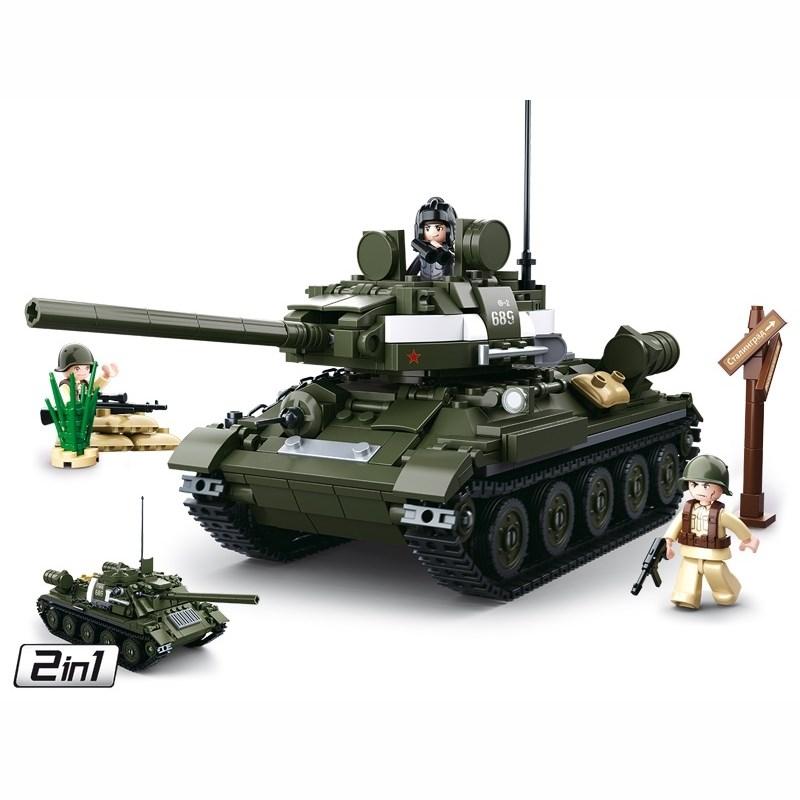 Stavebnice SOVÌTSKÝ TANK T-34/85 2v1 - zvìtšit obrázek