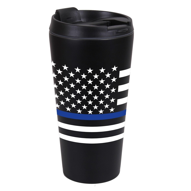Hrnek termo VLAJKA USA modrá linka ÈERNÝ - zvìtšit obrázek