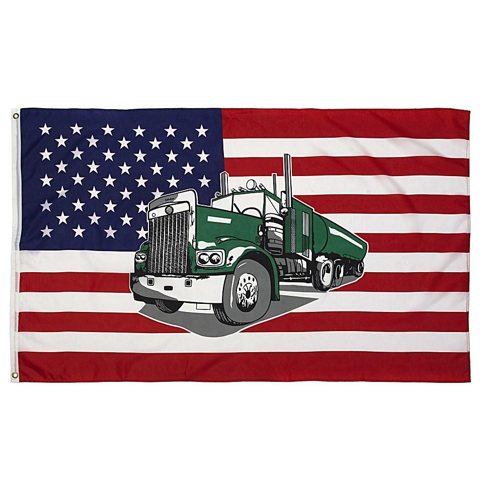 Vlajka USA s kamioném TRUCK - zvìtšit obrázek
