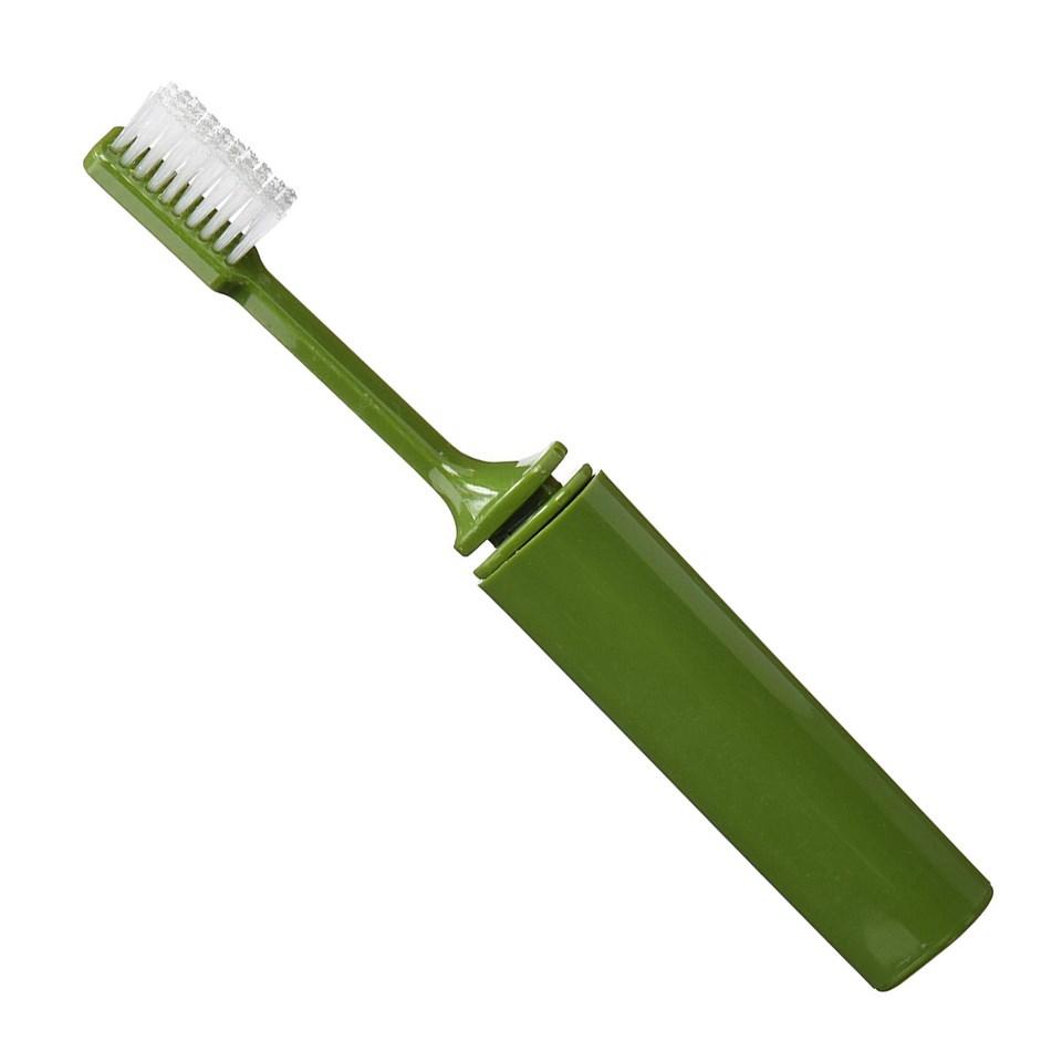 Kartáèek na zuby skládací plastový ZELENÝ - zvìtšit obrázek