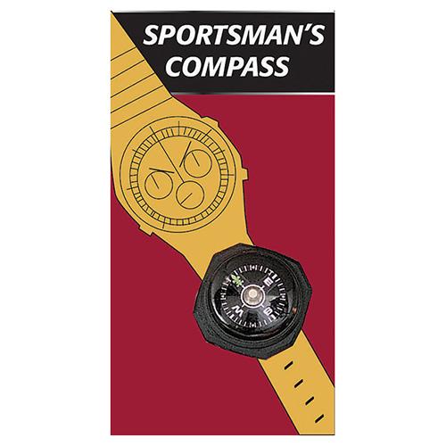Kompas ROTHCO na hodinky nebo náramek ÈERNÝ - zvìtšit obrázek