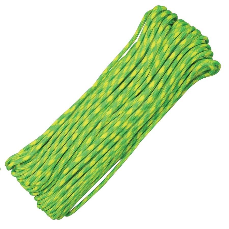 Šòùra PARACORD nylon 550LB 30m 4mm Lemon-Lime - zvìtšit obrázek