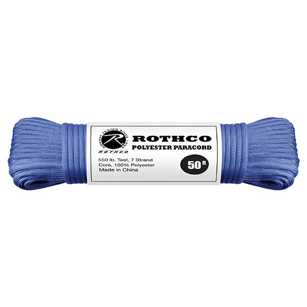 Šòùra PARACORD polyester 550LB 15 m 4mm MODRÁ - zvìtšit obrázek