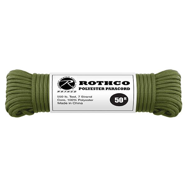 Šòùra PARACORD polyester 550LB 15 m 4mm OLIV - zvìtšit obrázek
