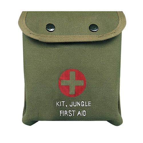 Lékárnièka první pomoci M-1 JUNGLE ZELENÁ s køížem - zvìtšit obrázek