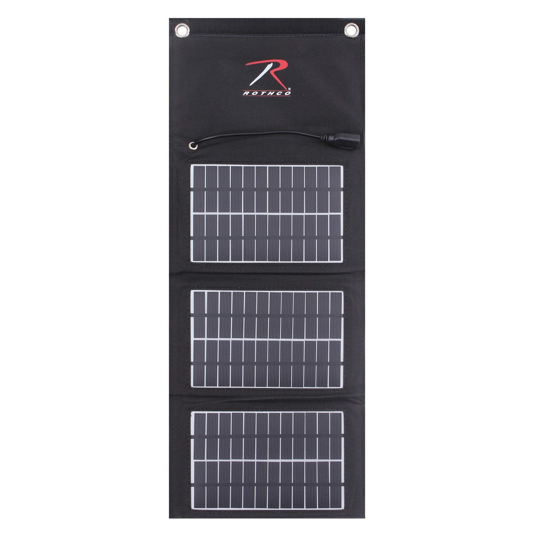 Nabíjeèka solární USB skládací MOLLE ÈERNÁ - zvìtšit obrázek
