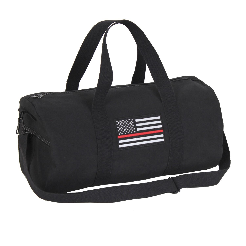 Taška sportovní US vlajka s èerveným pruhem ÈERNÁ - zvìtšit obrázek
