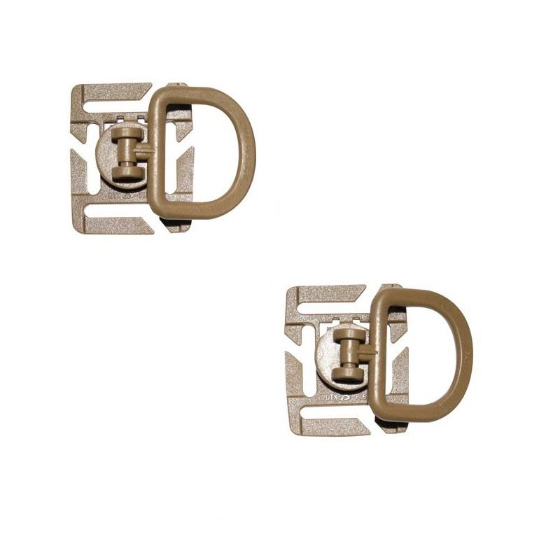 Adaptér MOLLE D-kroužek otoèný 2 kusy COYOTE - zvìtšit obrázek