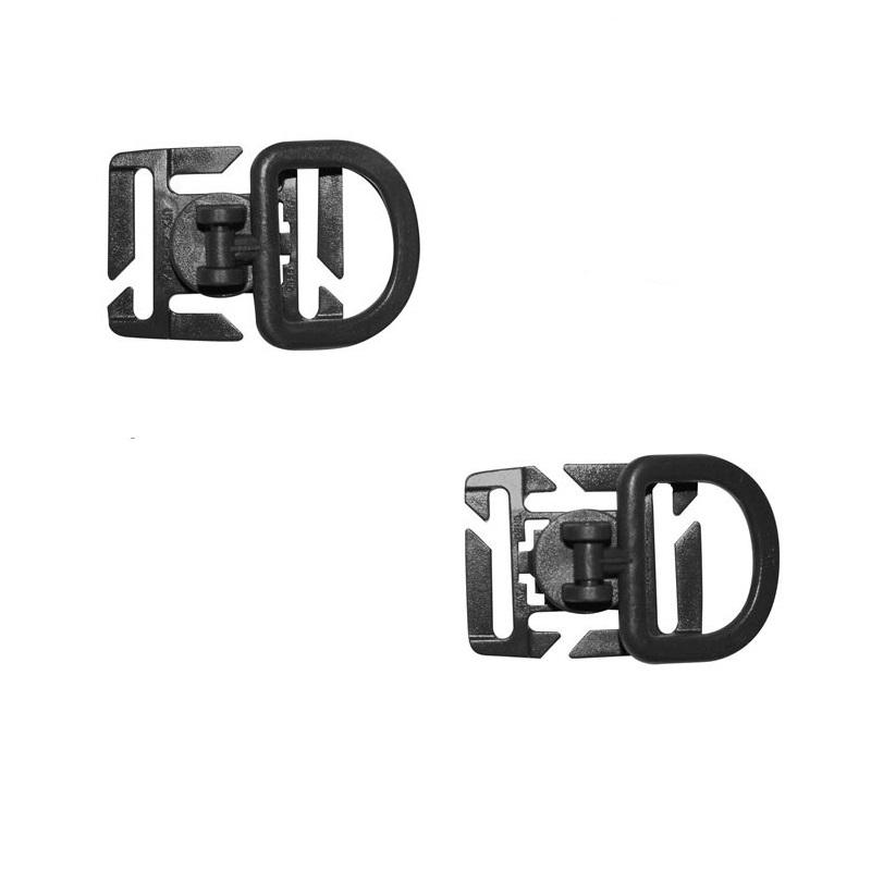 Adaptér MOLLE D-kroužek otoèný 2 kusy ÈERNÝ - zvìtšit obrázek
