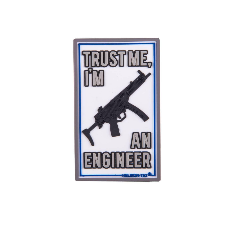 Nášivka TRUST ME IM AN ENGINEER velcro plastová - zvìtšit obrázek